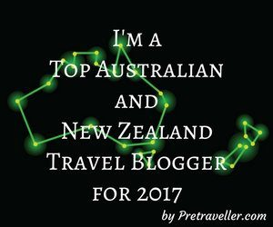 I'm a Top Australian and New Zealand Travel Blogger for 2017
