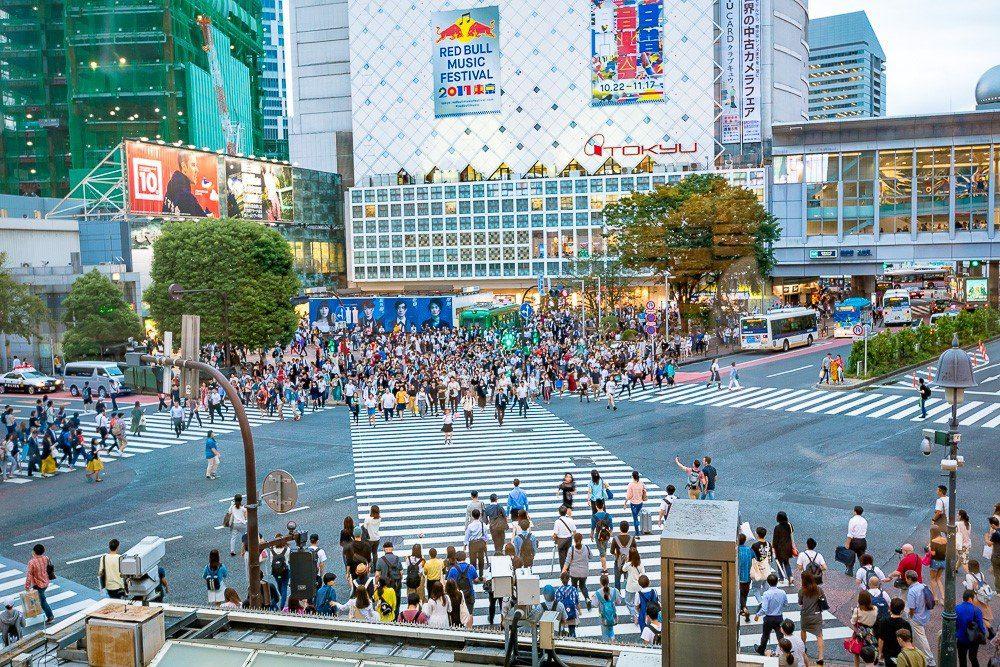 Shibuya Crossing - Eat Work Travel