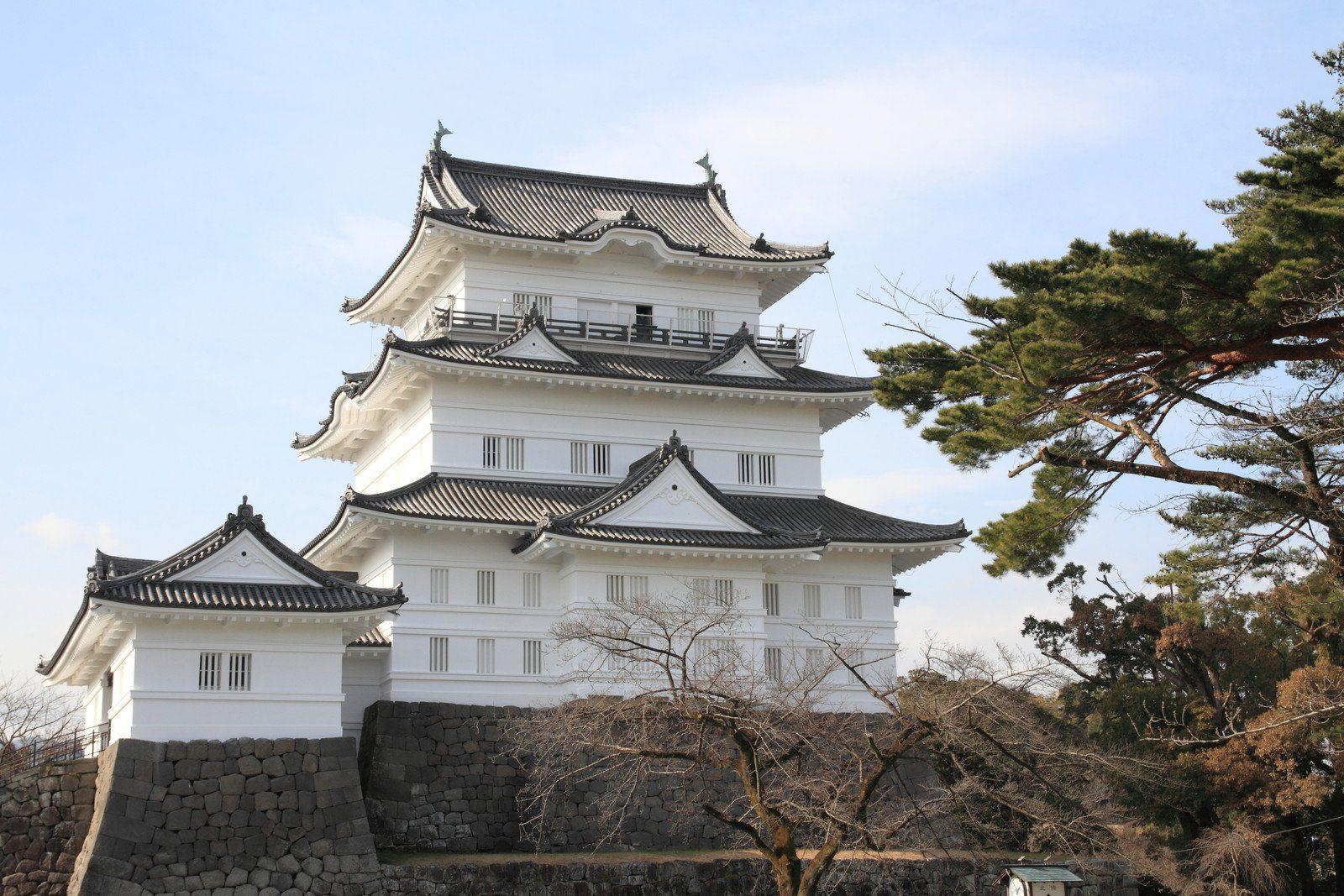 Odawara Castle in Kanagawa, the entry to the Hakone region