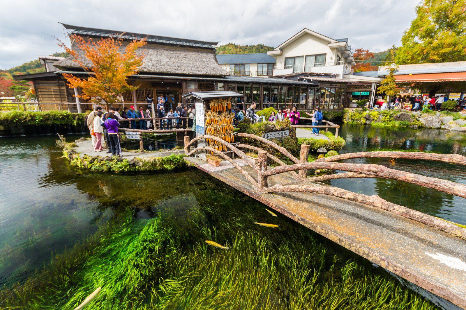 Oshino Hakkai Village Springs in the Five Lakes region near Mt Fuji