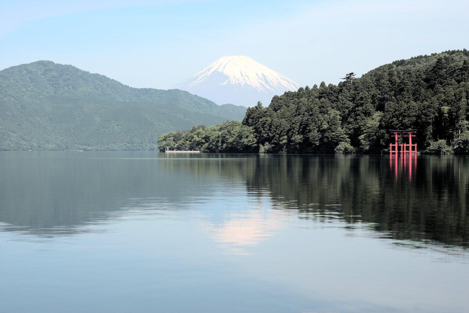 View of Mt Fuji from Mt Ashi in Hakone