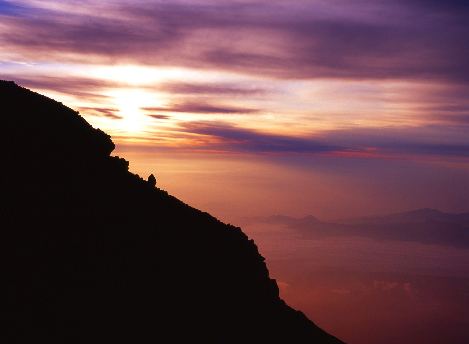 Sunrise Viewed from the Summit of Mt Fuji