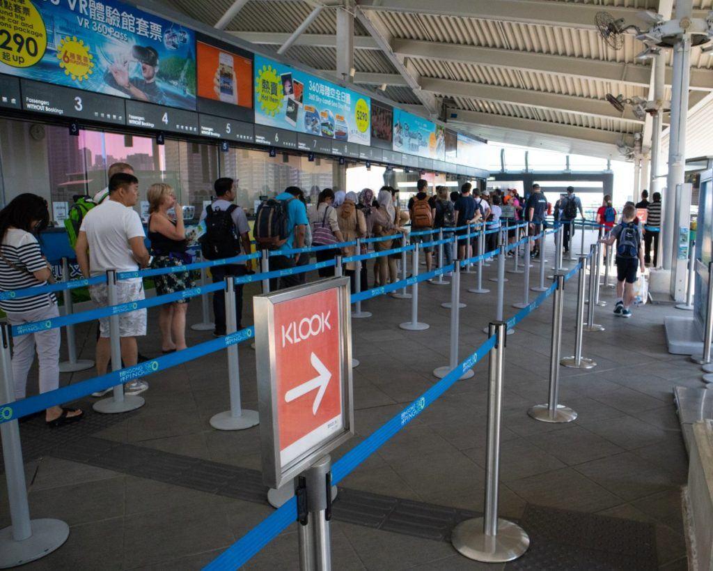 Ngong Ping 360 tickets queue