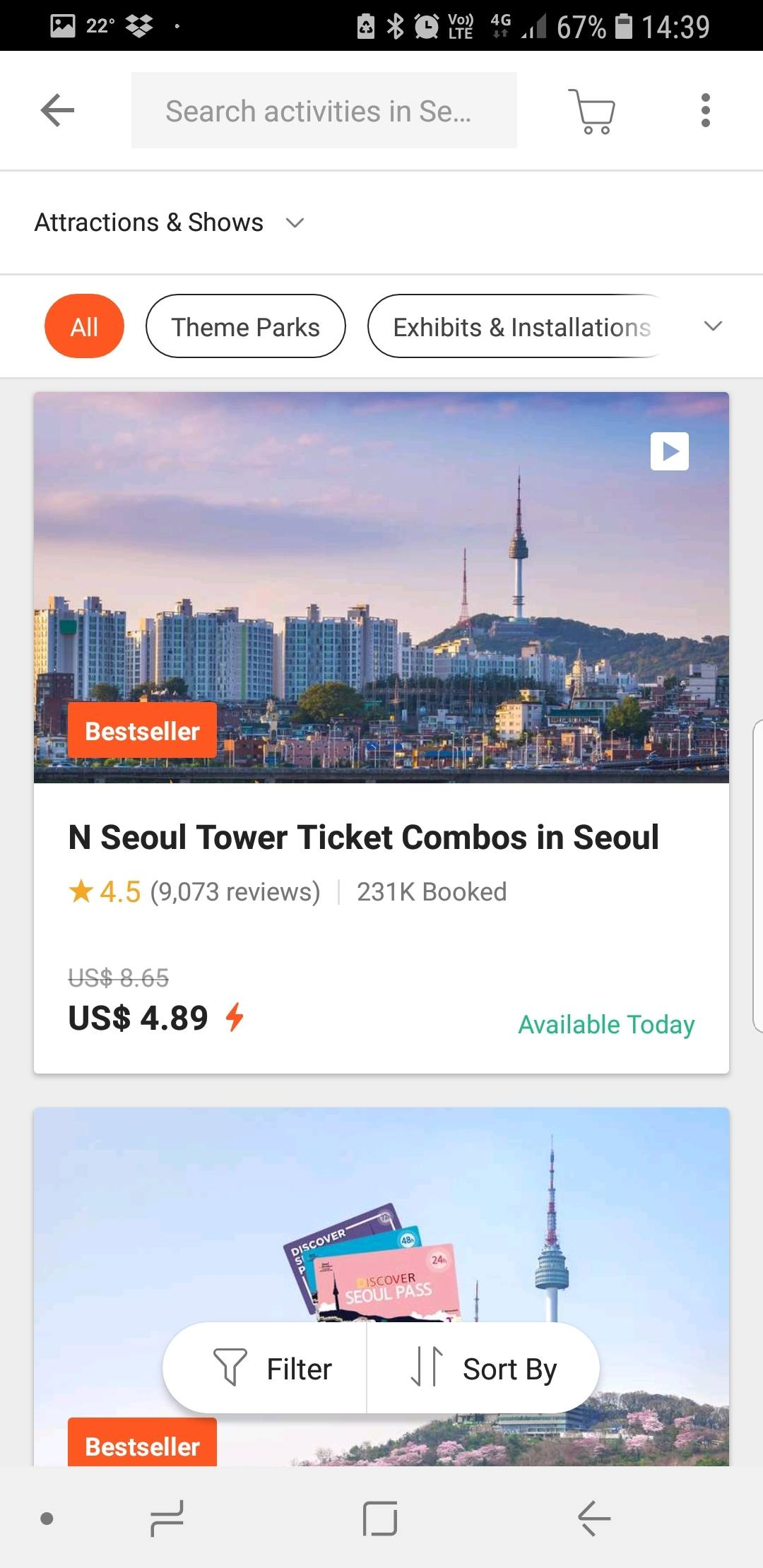 South Korea Trip Apps - Klook Tours and Tickets