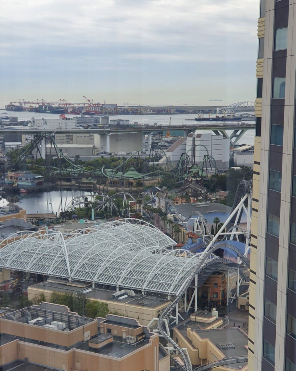 View from Hotel Keihan Universal Towers Hotel over USJ