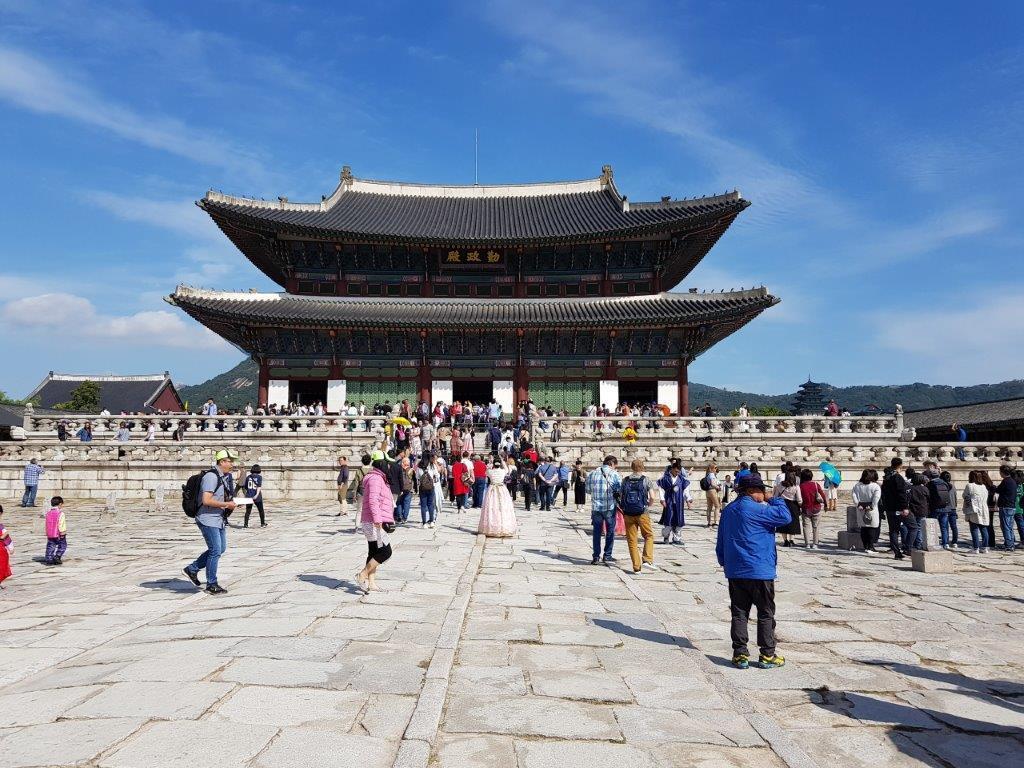 View of Gyeongbokgung Palace in Seoul, South Korea