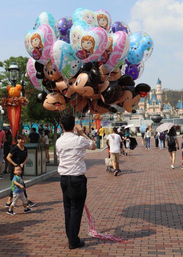 Balloon Seller at Hong Kong Disneyland