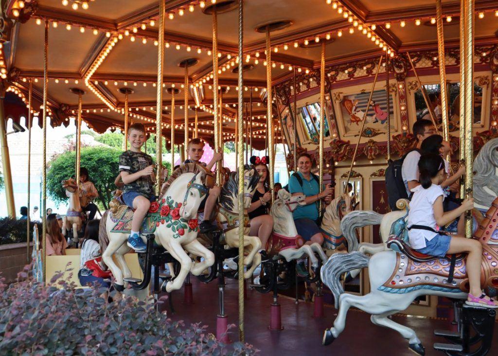 Cinderella Carousel at Hong Kong Disneyland