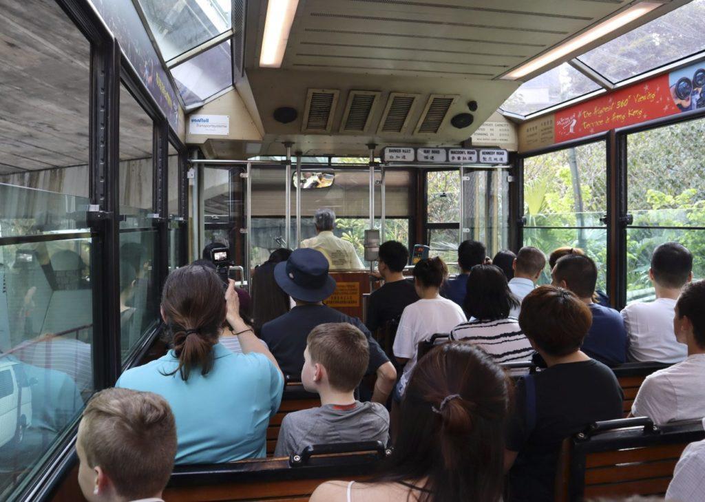 Victoria Peak Tram Journey