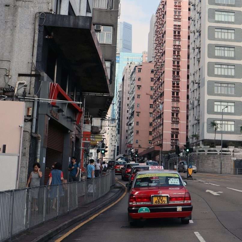 Red Hong Kong Taxi