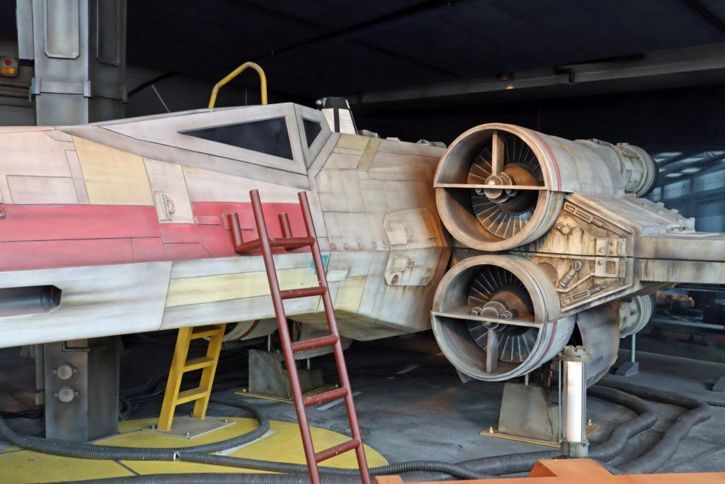 X-Wing Starfighter in Hyperspace Mountain Hanger