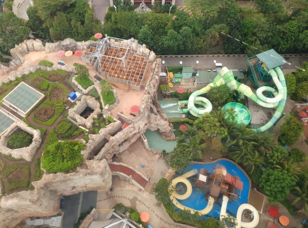 View over Adventure Cove in Singapore