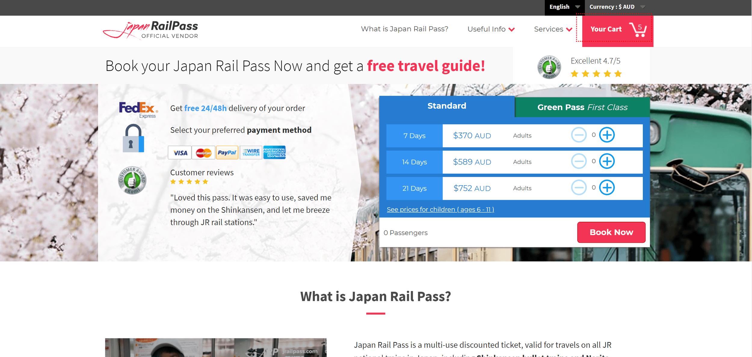 JRailPass.com Home Page