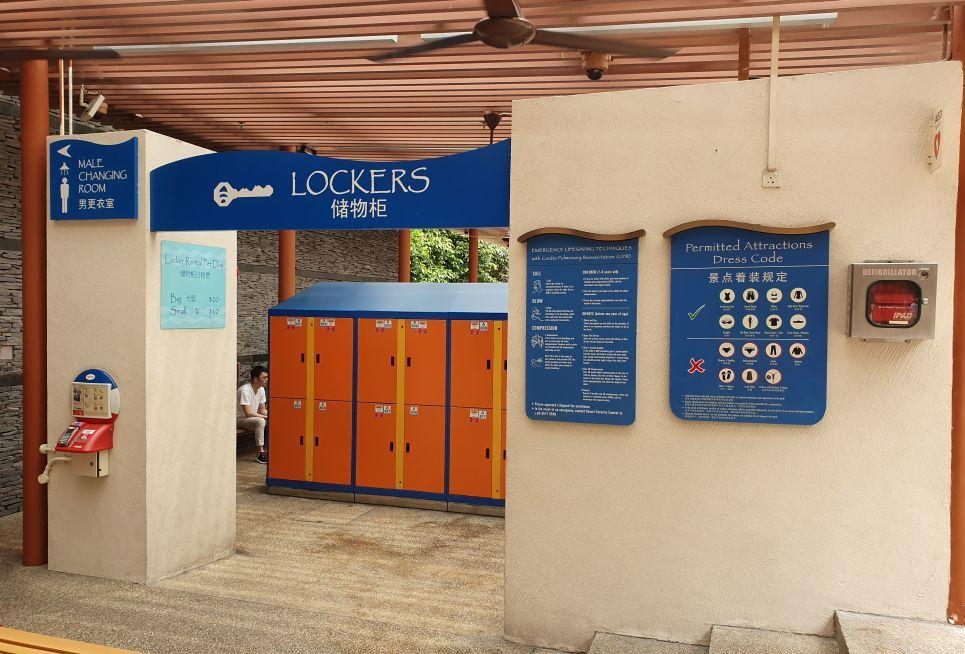 Adventure Cove Entrance Lockers