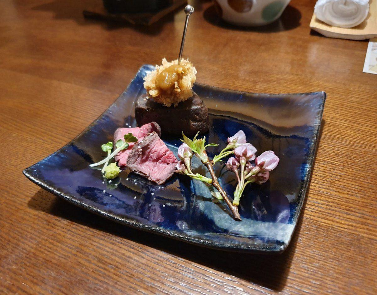 KAI Kinugawa Keiseki Dinner - Roast Beef and a Bite Size Cutlet made of Beef Tenderloin