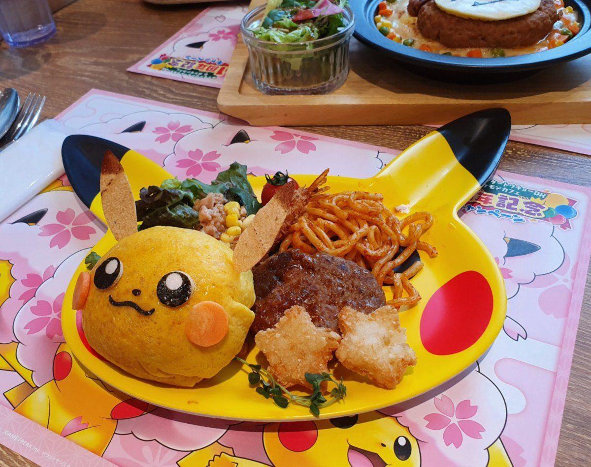 Pokemon Cafe Pikachu Hamburger