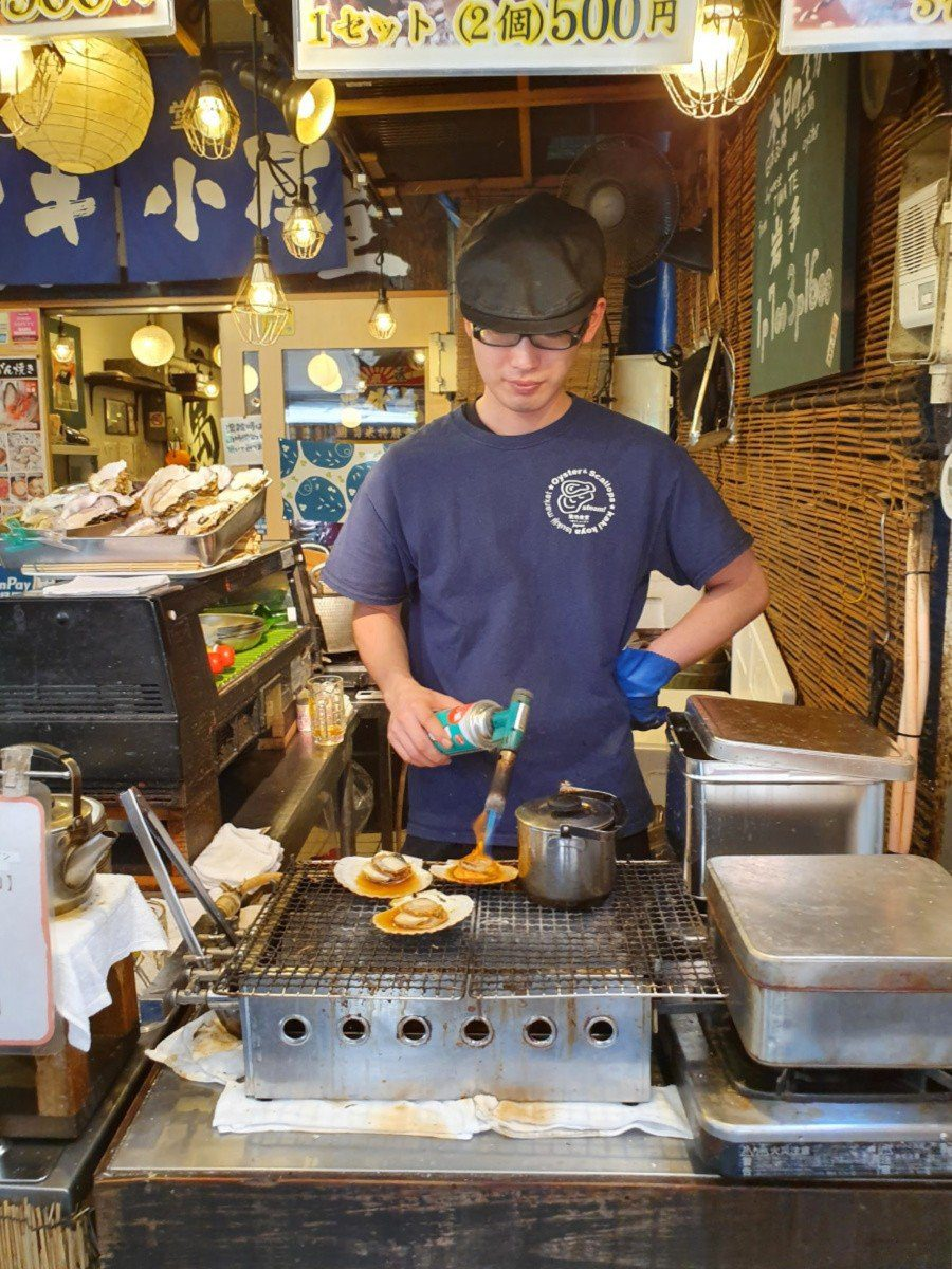Street Scallops in Tsujiki Market