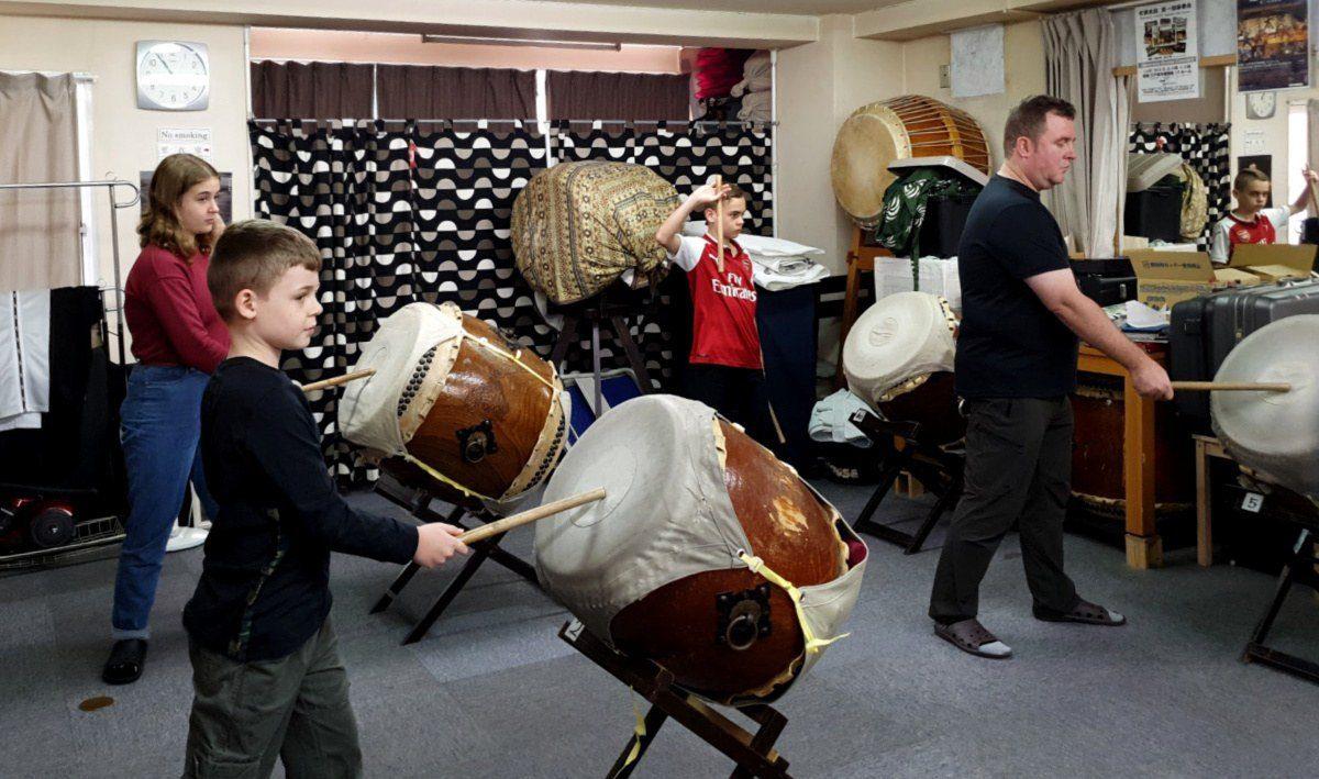 Taiko Drumming in Tokyo