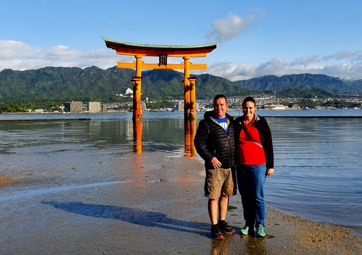 A closer look at the Floating Torii Gate on Miyajima Island