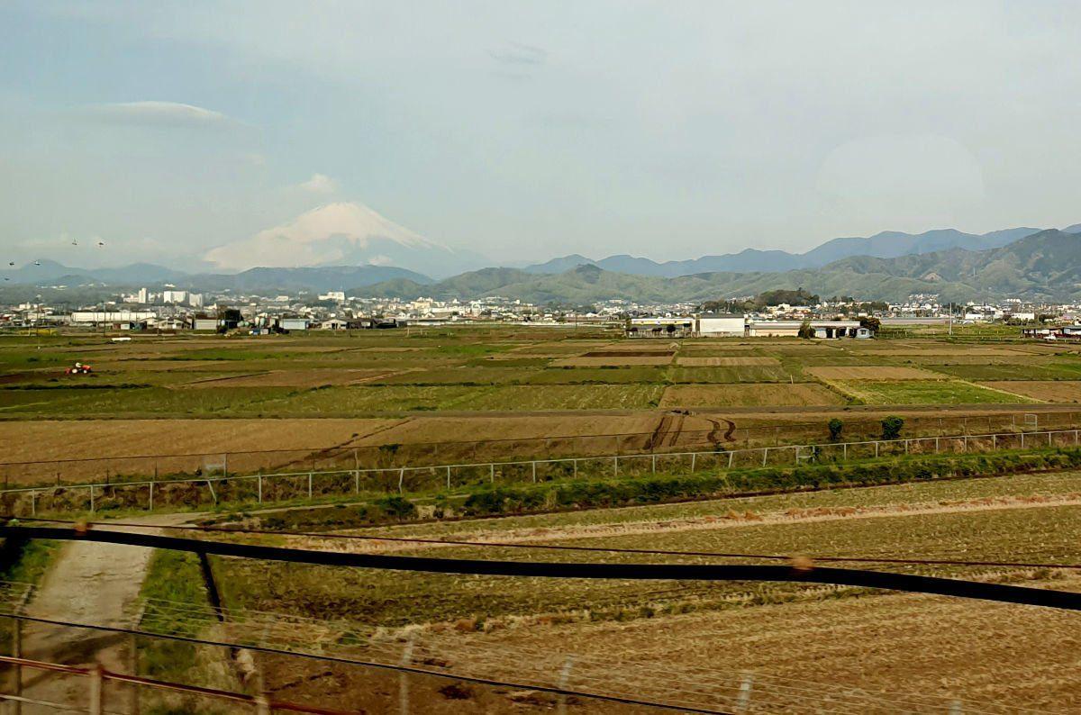 First Glimpse of Mt Fuji from the Shinkansen close to Odawara