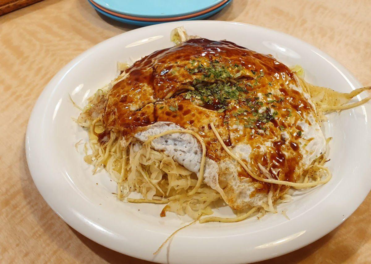 Hiroshima Style Okonomiyaki - Japanese Pancake