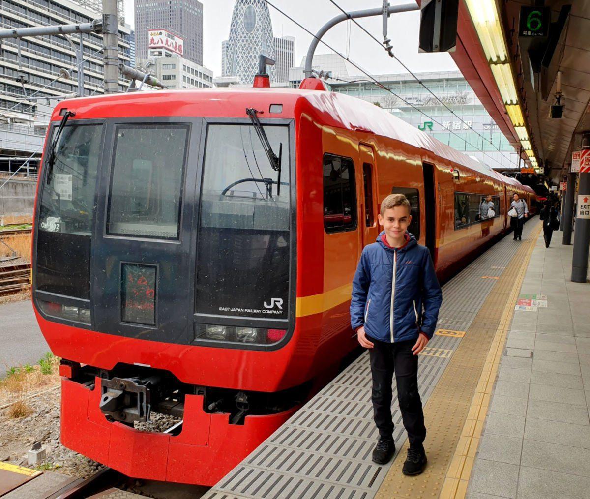 JR Train from Shinjuku Station to Kinugawa Onsen
