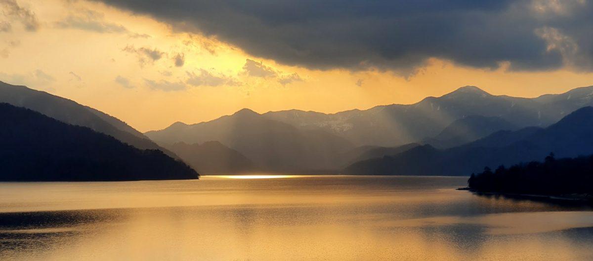 Lake Chuzenji in Nikko at Sunset