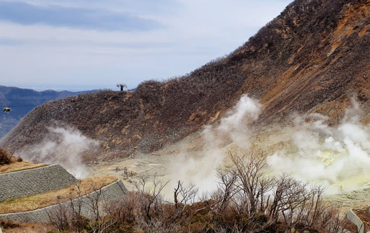 Owakudani Volcanic Area in Hakone