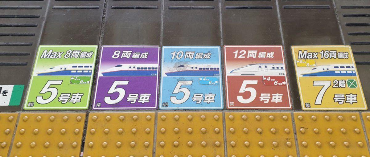 Shinkansen Carriage Markings