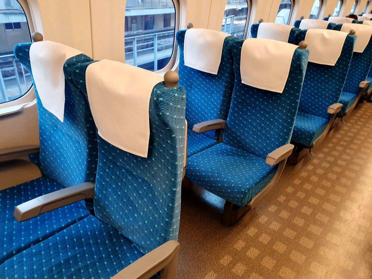 Shinkansen Interior - Tokyo to Shin-Fuji