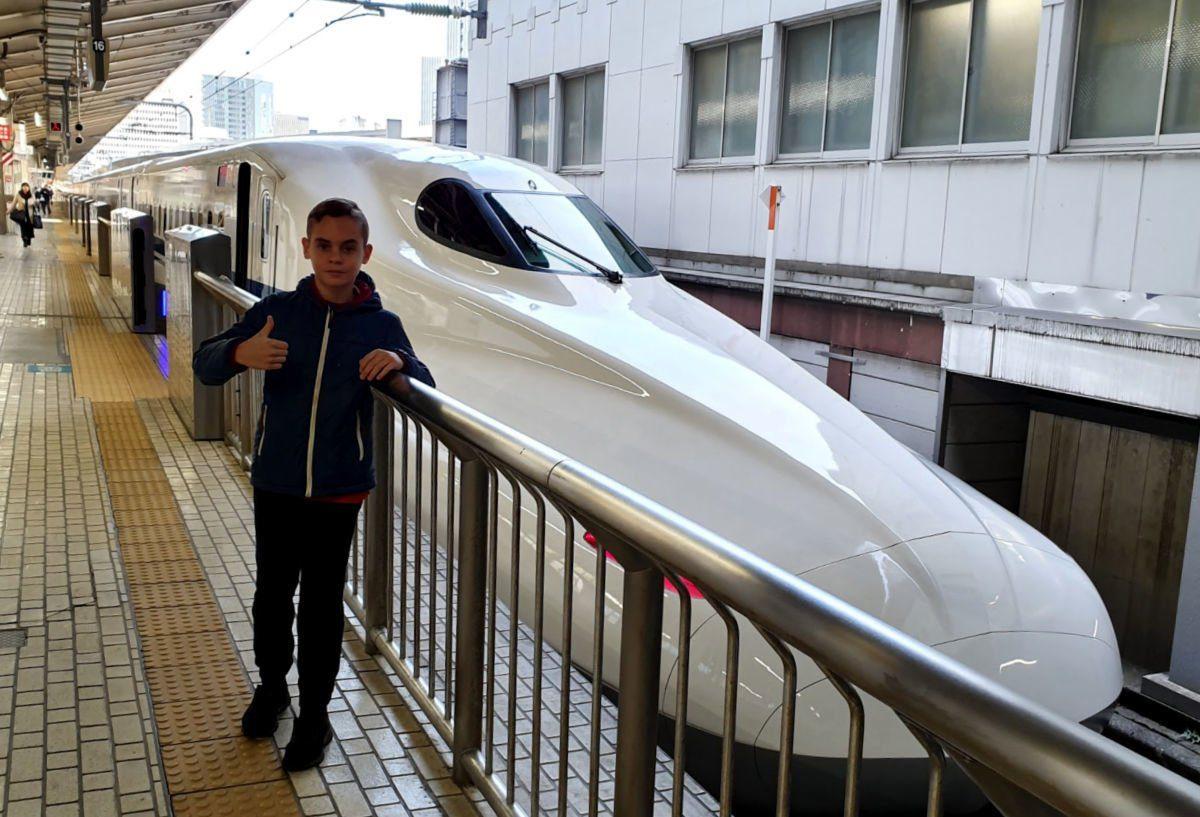 Shinkansen from Tokyo to Shin-Fuji