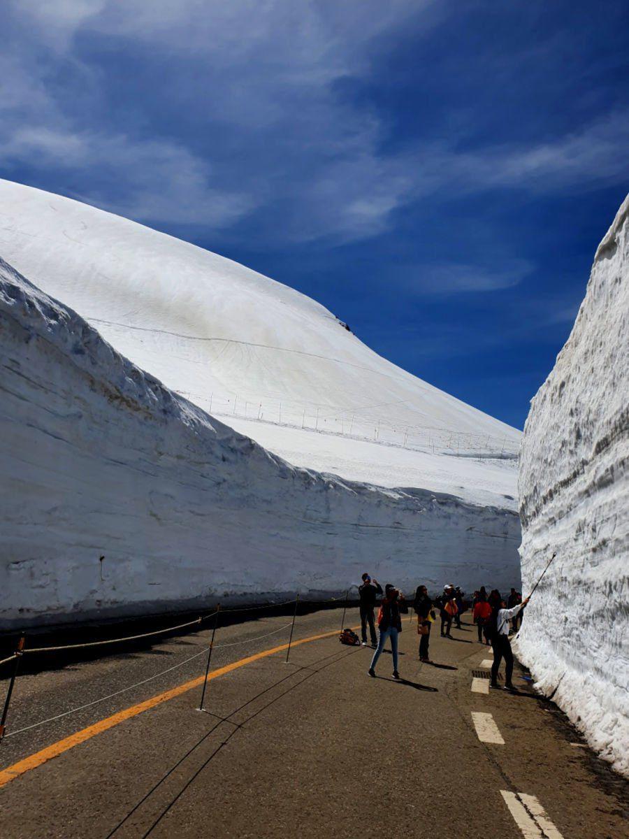 Tateyama Kurobe Alpine Route Ice Walls in Japan