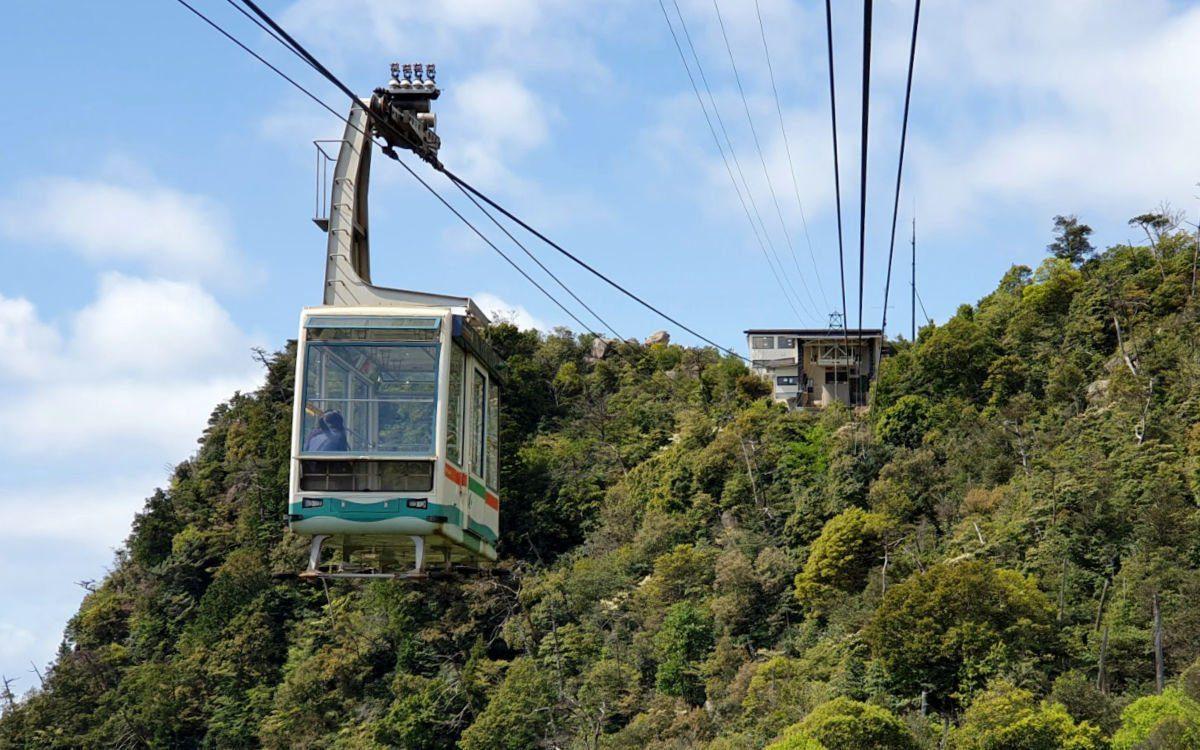 The Cable Car to Mt Misen on Miyajima Island