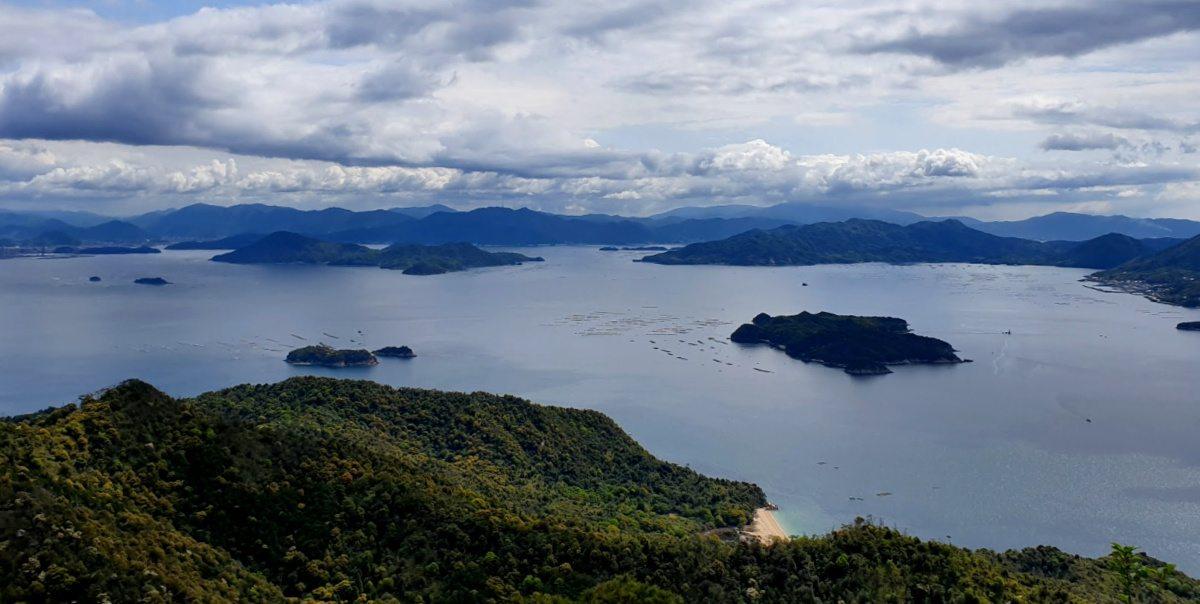 View of the Seto Sea from Miyajima Island