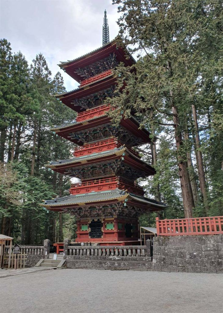 Five Storey Pagoda in Toshugu Shrine Complex