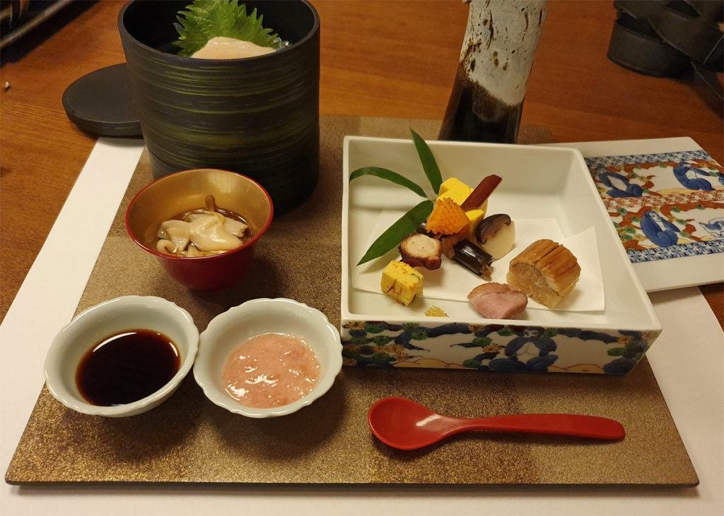 Osechi, sashimi and vinegared dish