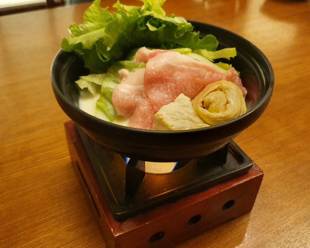 Soy Milk Hotpot with Yuba, Pork and Vegetables