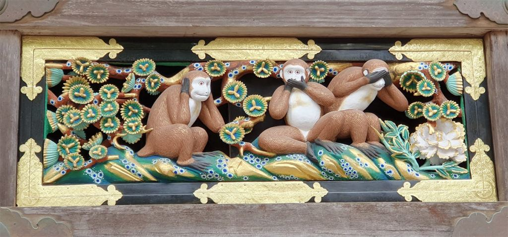 The Three Wise Monkeys of Nikko