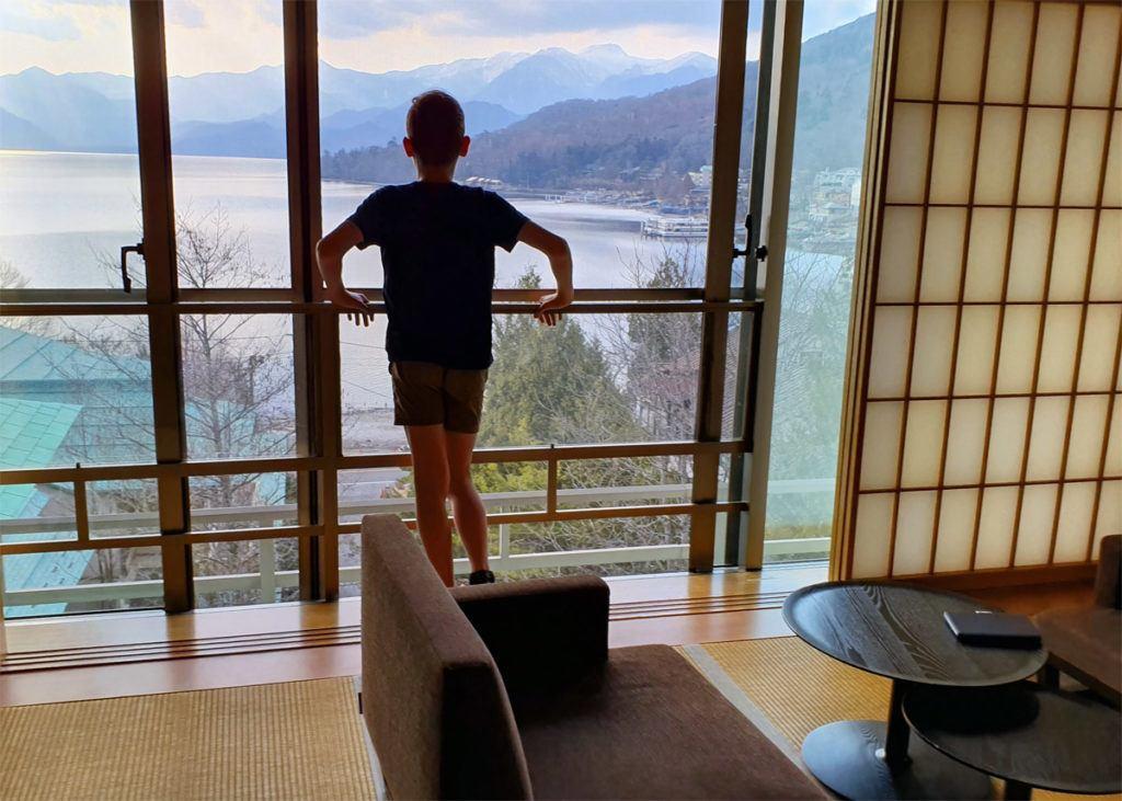 View from Kai Nikko Room Window over Lake Chuzenji