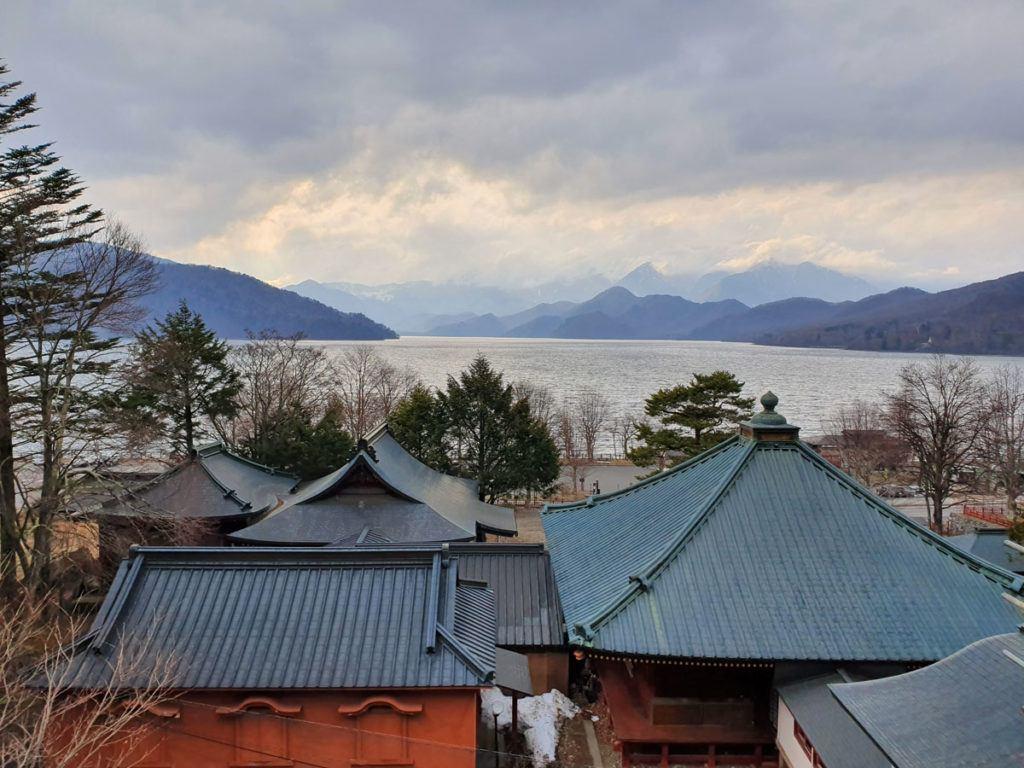 View over Lake Chuzenji from Chuzenji Temple