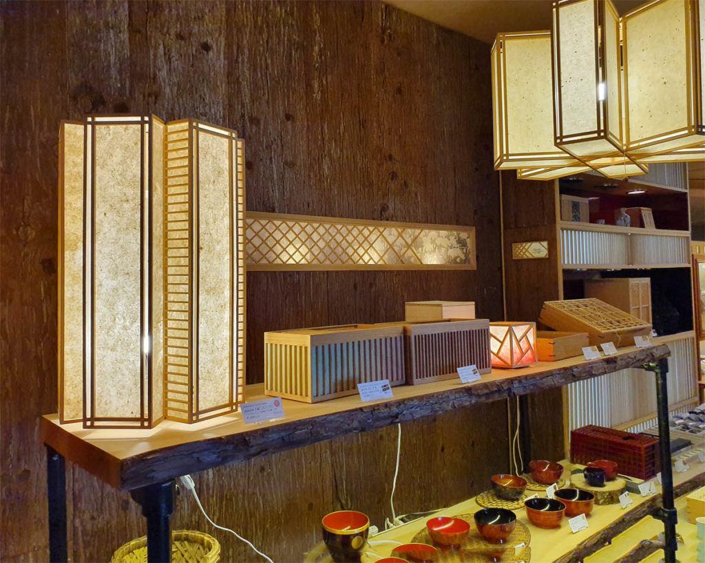 Wood Latticework Handicraft in the Kai Nikko Shop