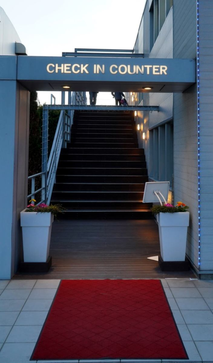 Entry to Excel Air Reception at Urayasu Heliport in Tokyo