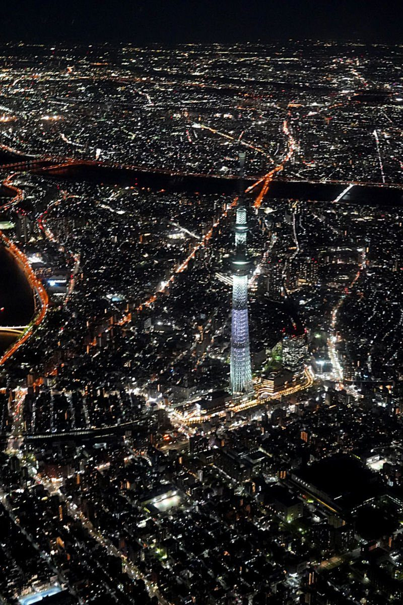 Helicopter Views over the Tokyo Skytree