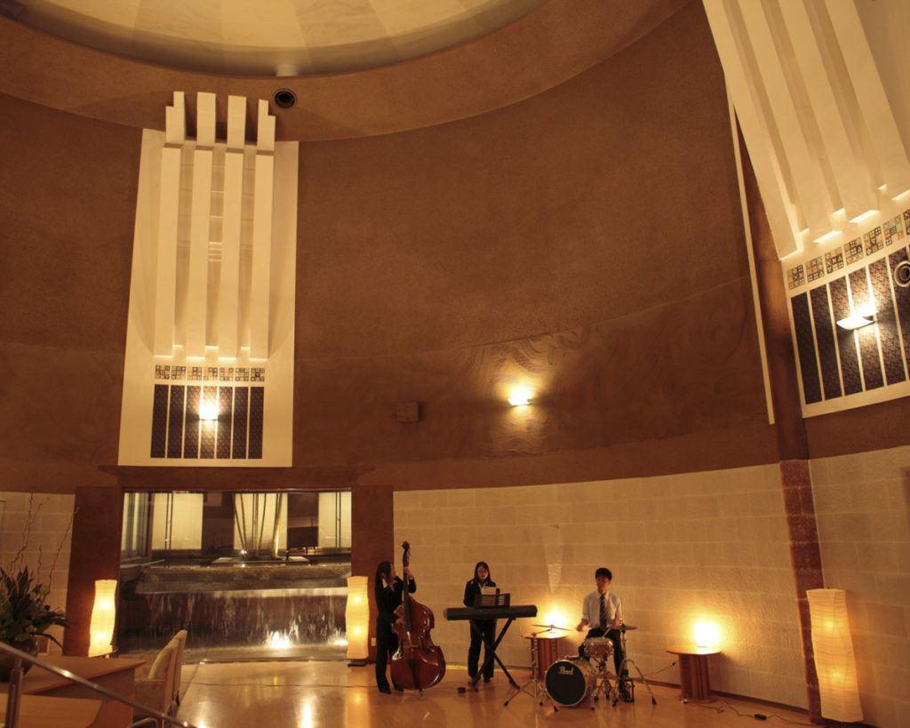 13-metre high ceiling in the Kai Matsumoto lobby.