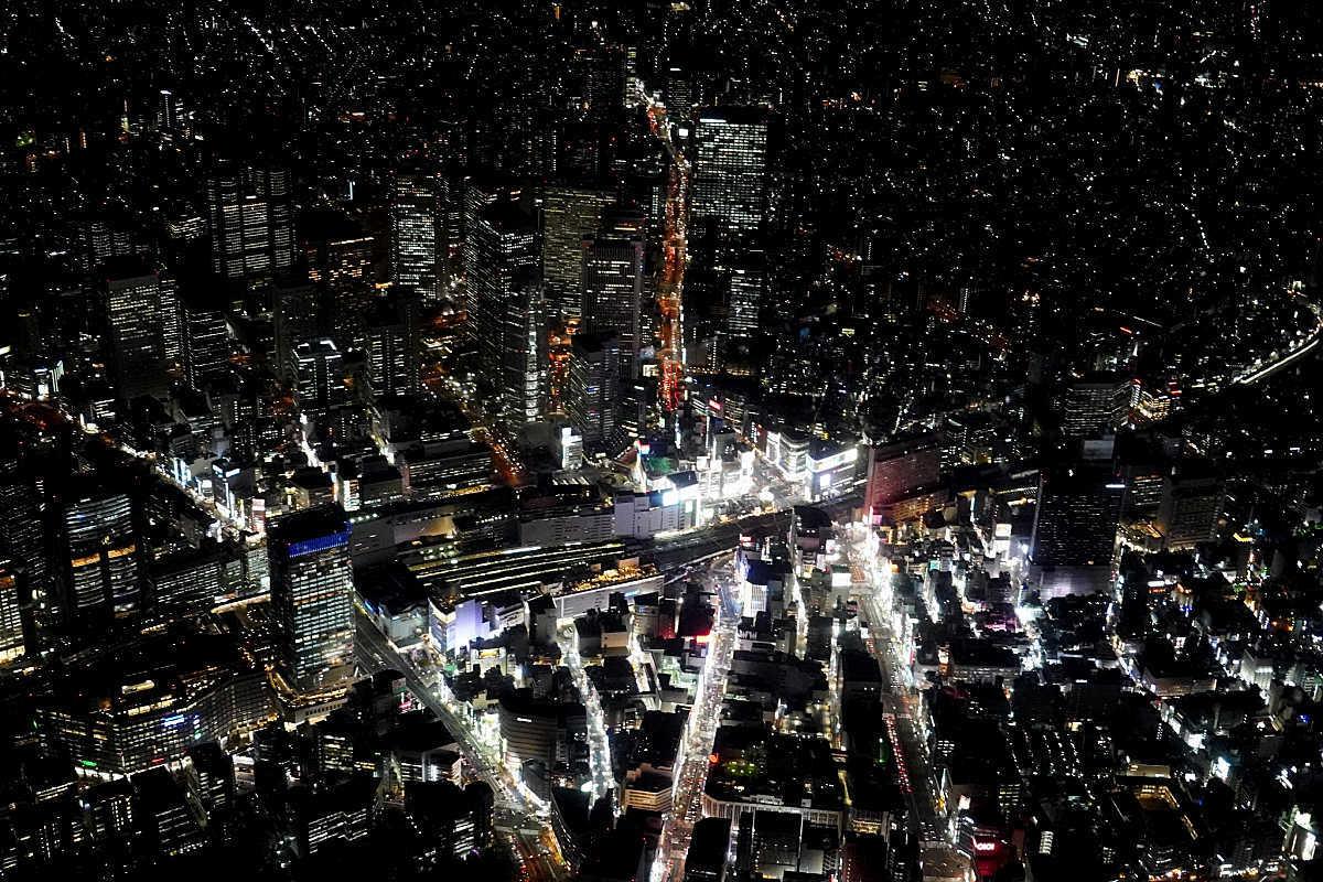 More Helicopter Views over Shinjuku