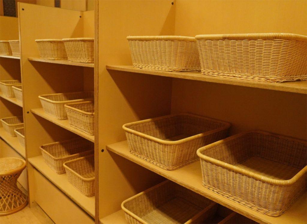 Storage Baskets at Kai Matsumoto Onsen