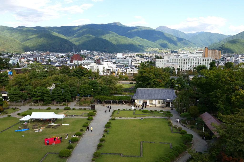 Views over Matsumoto from the top of Matsumoto Castle