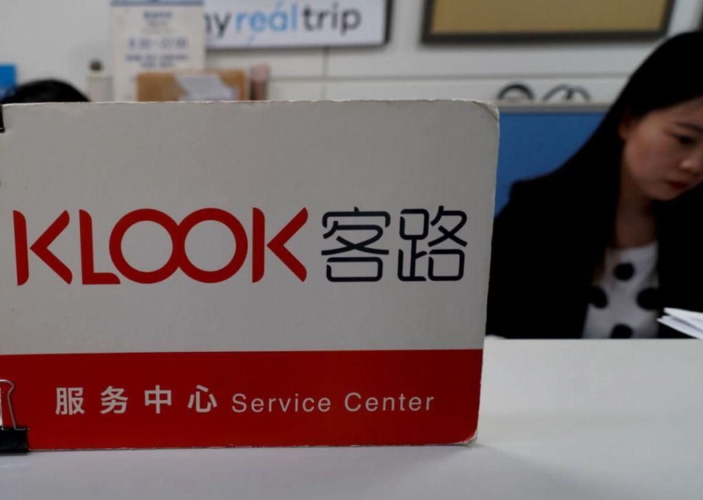 Klook Collection Counter at Narita Airport near Tokyo