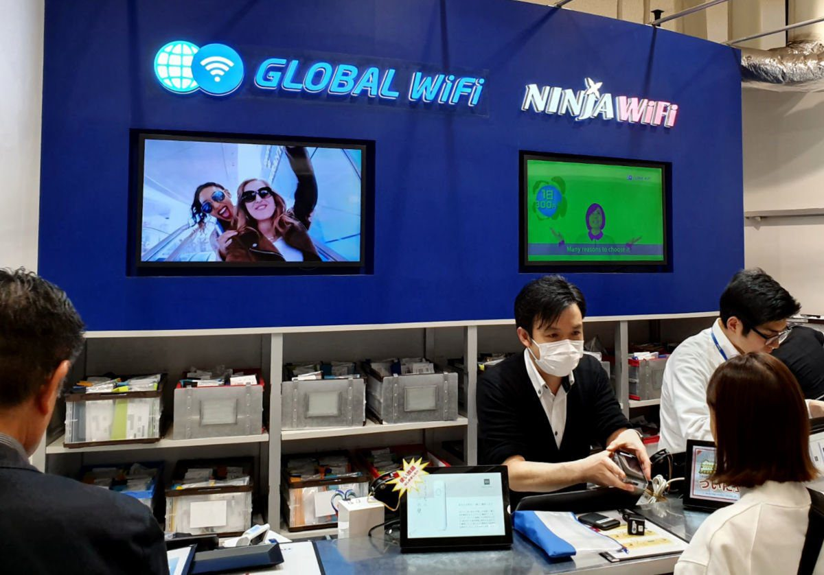 Klook Wifi Pickup and Drop Off Counter at Haneda Airport