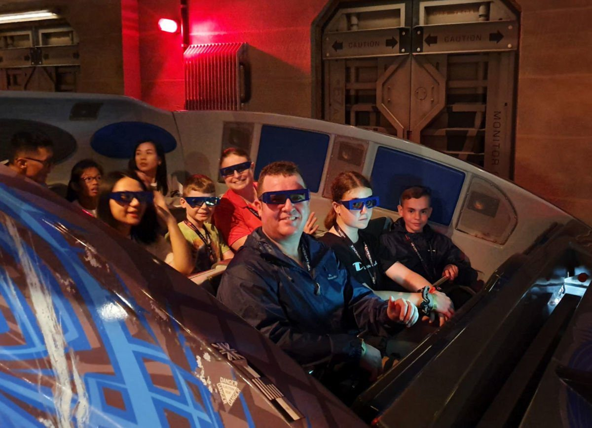 Our Family on the Transformers 3D Ride at Universal Studios Singapore